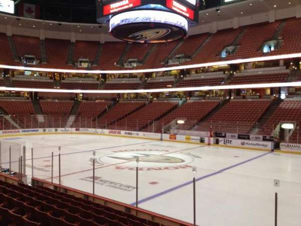 Honda Center, section: 220, row: K, seat: 8
