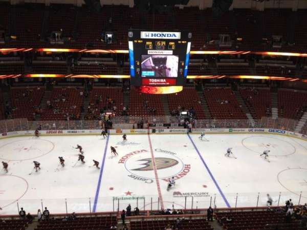 Honda Center, section: 434, row: H, seat: 4