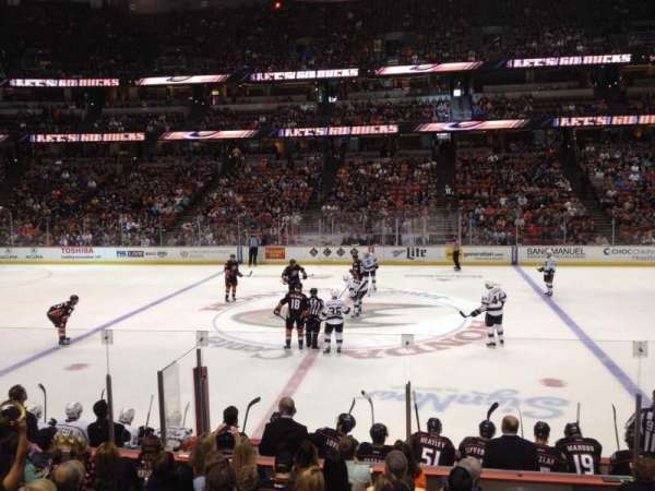 Honda Center, section: 208, row: L, seat: 1