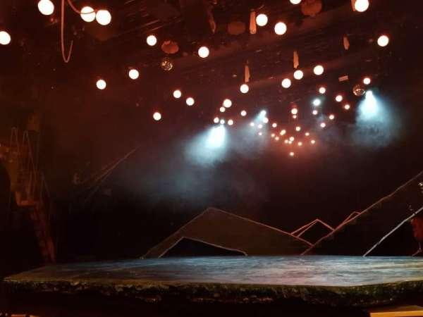 Bridge Theatre, section: Stalls, row: E, seat: 10