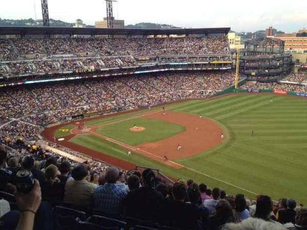 PNC Park, section: 308, row: P, seat: 12