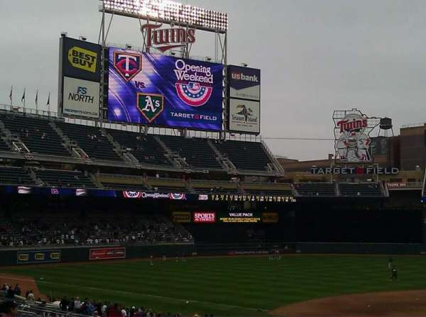 Target Field, section: 118, row: 17, seat: 11