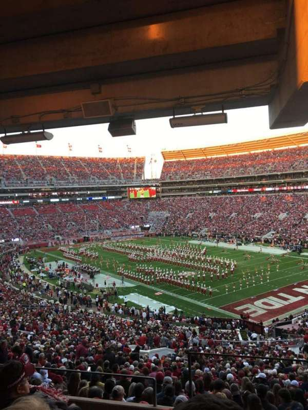 Bryant-Denny Stadium, section: U1-A, row: 5, seat: 1