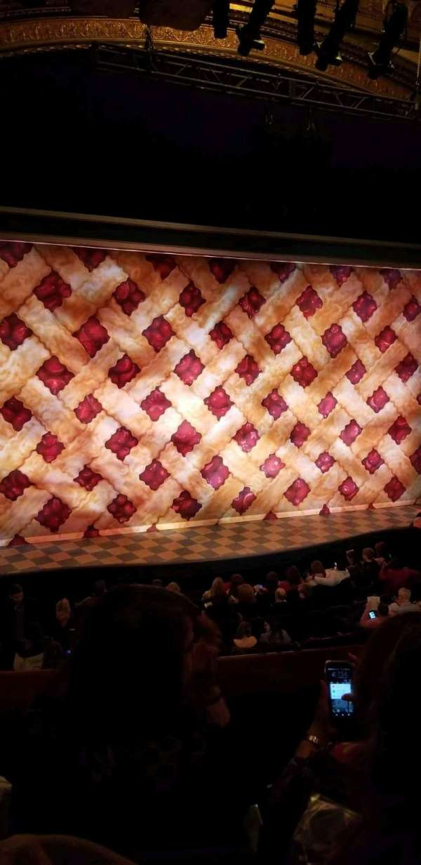 Brooks Atkinson Theatre, section: Front Mezzanine L, row: C, seat: 5