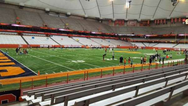 Carrier Dome, section: 104, row: i, seat: 1