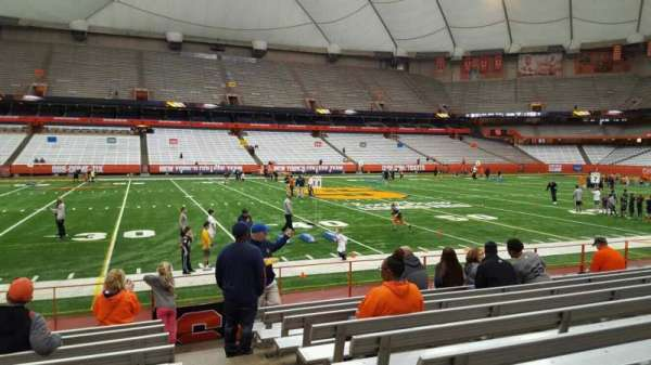 Carrier Dome, section: 102, row: i, seat: 1