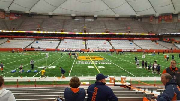 Carrier Dome, section: 101, row: l, seat: 6