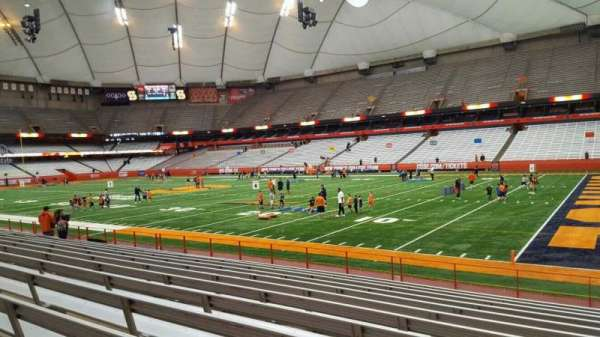 Carrier Dome, section: 128, row: l, seat: 1