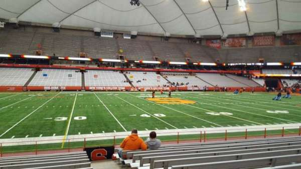 Carrier Dome, section: 117, row: l, seat: 1