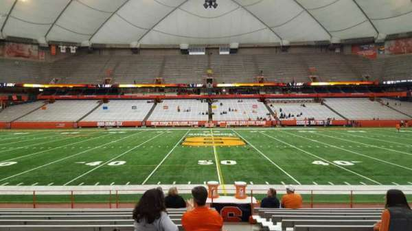 Carrier Dome, section: 116, row: l, seat: 1