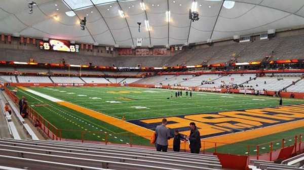 Carrier Dome, section: 111, row: l, seat: 1