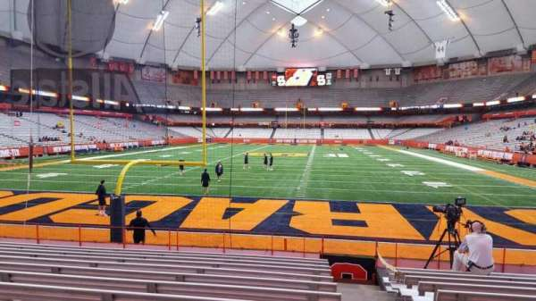 Carrier Dome, section: 108, row: l, seat: 1