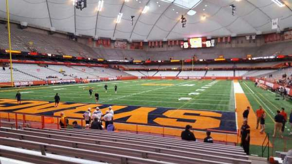 Carrier Dome, section: 107, row: l, seat: 1