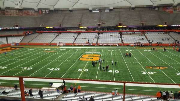 Carrier Dome, section: 319, row: b, seat: 116