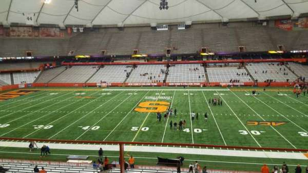 Carrier Dome, section: 318, row: b, seat: 18