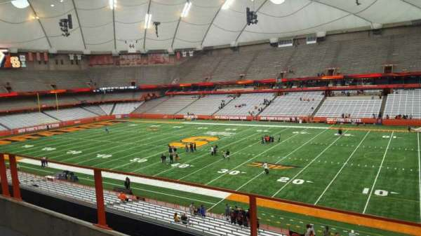 Carrier Dome, section: 316, row: b, seat: 16