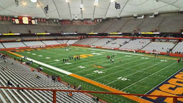 Carrier Dome, section: 315, row: b, seat: 116