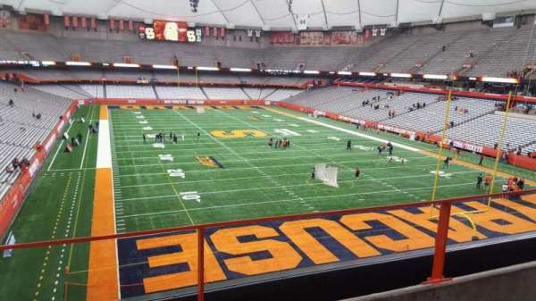Carrier Dome, section: 312, row: b, seat: 114
