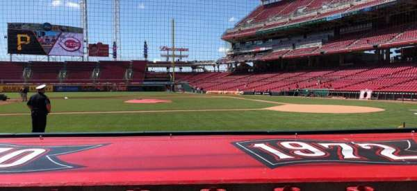 Great American Ball Park, section: 117, row: H, seat: 3-4
