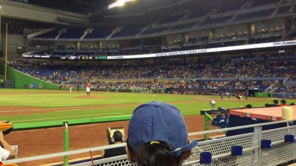 Marlins Park, section: 21, row: B, seat: 15