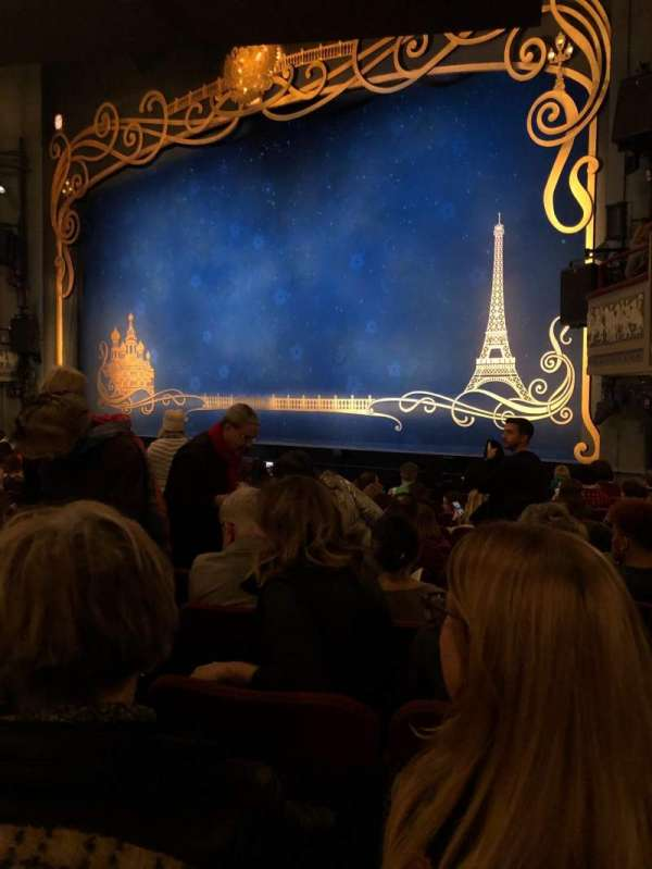 Broadhurst Theatre, section: Orchestra R, row: M, seat: 18