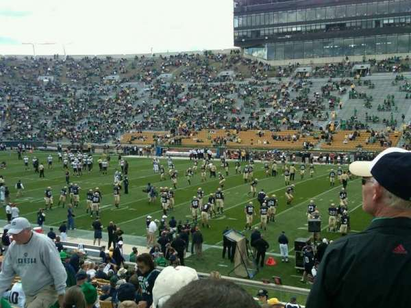 Notre Dame Stadium, section: 9, row: 34, seat: 7