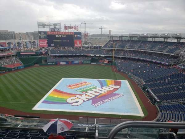 Nationals Park, section: 409, row: H, seat: 23