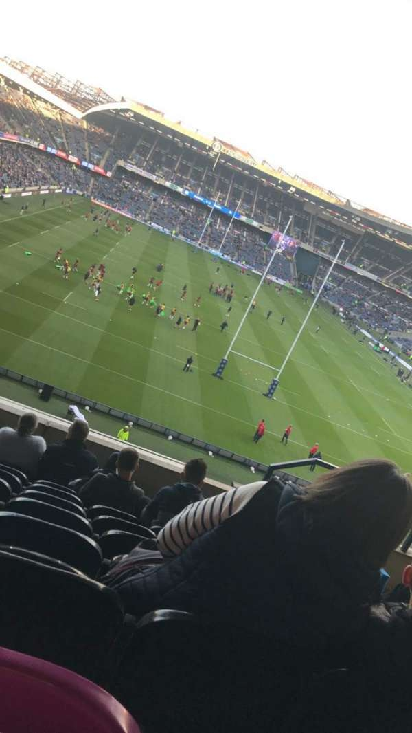 Murrayfield Stadium, section: North, row: H, seat: 12