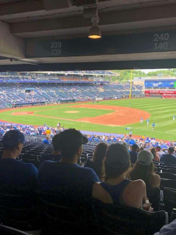 Kauffman Stadium, section: 240, row: TT, seat: 3