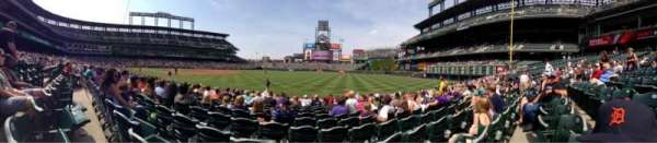 Coors Field, section: 116, row: 11, seat: 11