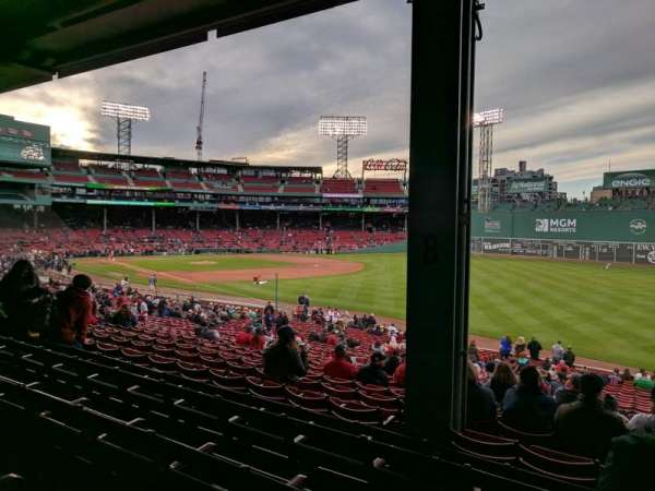 Fenway Park, section: Grandstand 9, row: 5, seat: 10