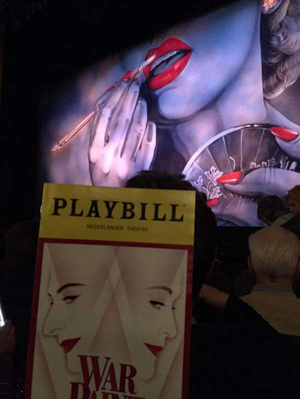 Nederlander Theatre, section: Orchestra Right, row: E, seat: 8