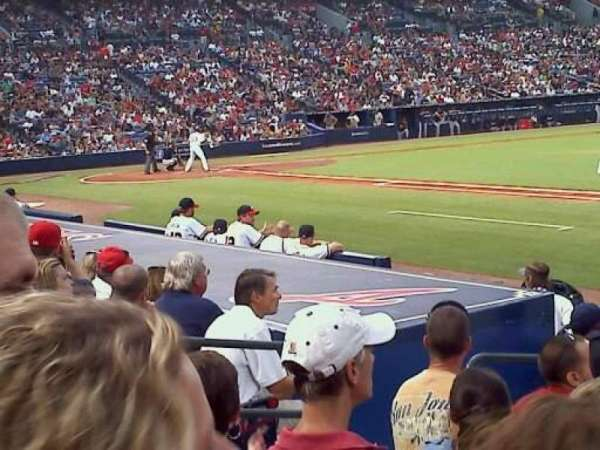 Turner Field, section: 117, row: 10