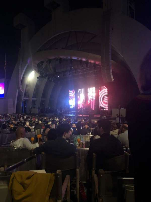 Hollywood Bowl, section: Garden Box 712, seat: 1
