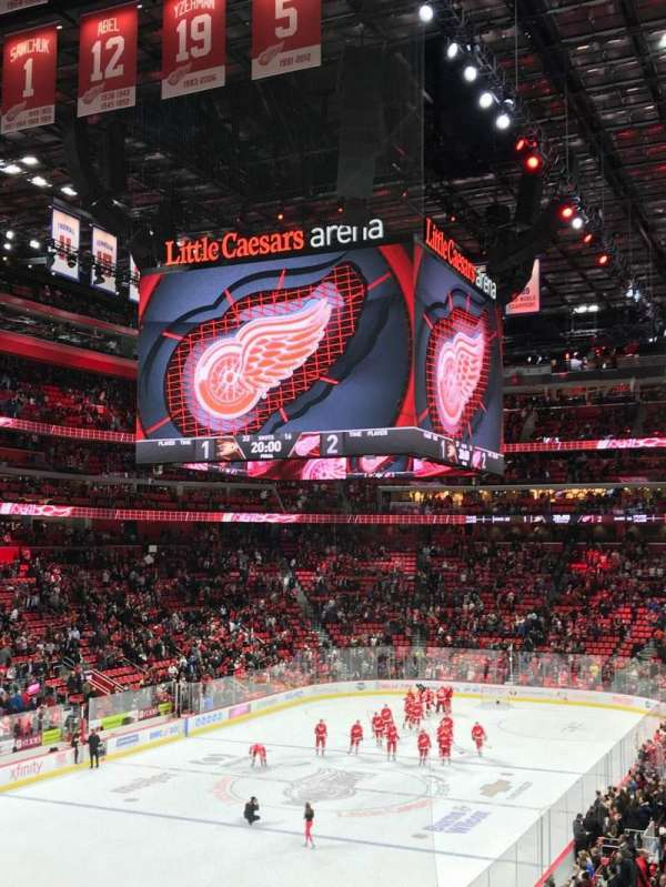 Little Caesars Arena, section: 114, row: 23