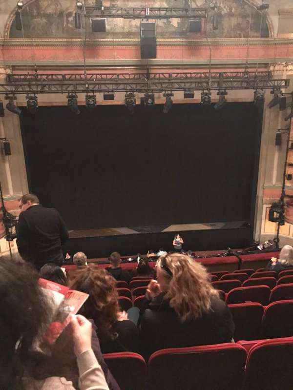 Neil Simon Theatre, section: Front Mezzanine C, row: H, seat: 109