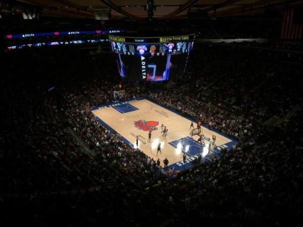 Madison Square Garden, section: 318, row: 2, seat: 1