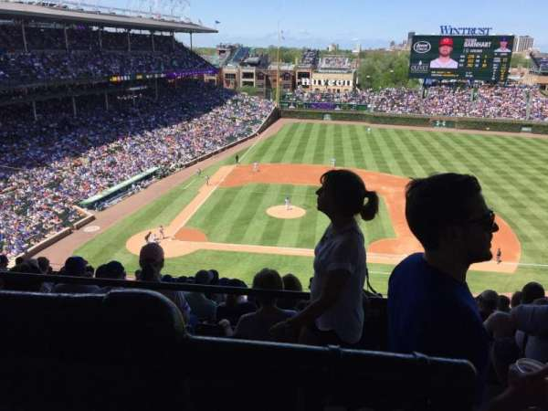 Wrigley Field, section: 423R, row: 1, seat: 18