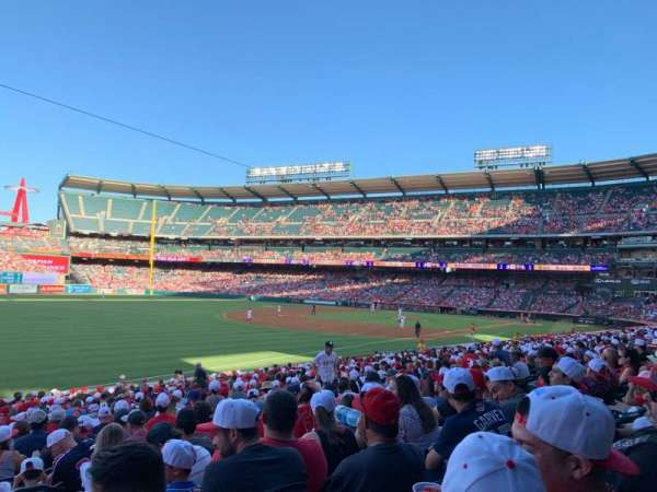 Angel Stadium, section: F106, row: Z, seat: 1