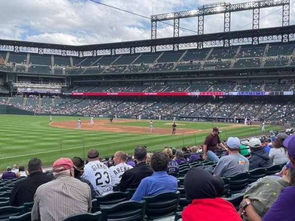 Coors Field, section: 145, row: 18, seat: 18
