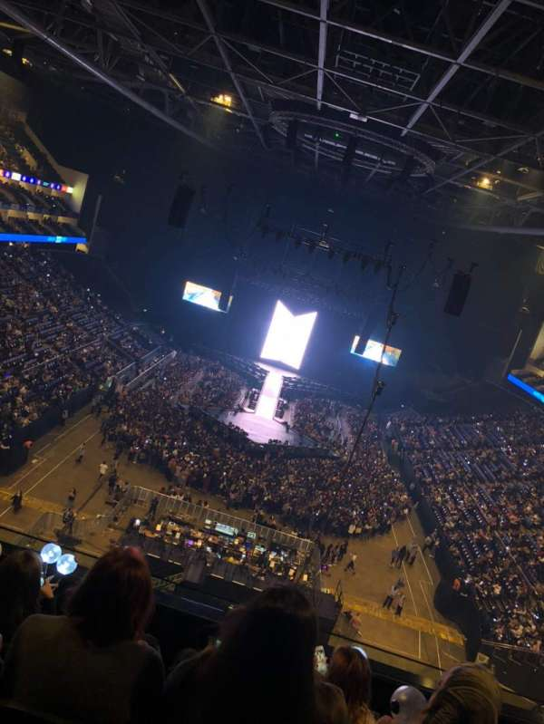 The O2 Arena, section: 411, row: D, seat: 419