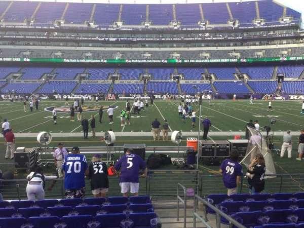 M&T Bank Stadium, section: 126, row: 9, seat: 1