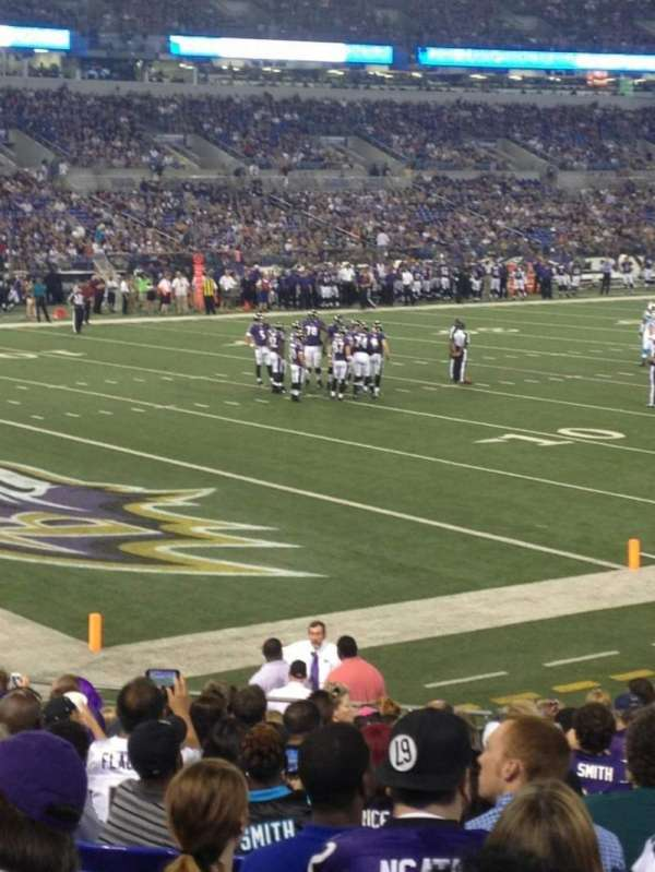 M&T Bank Stadium, section: 107, row: 18, seat: 15