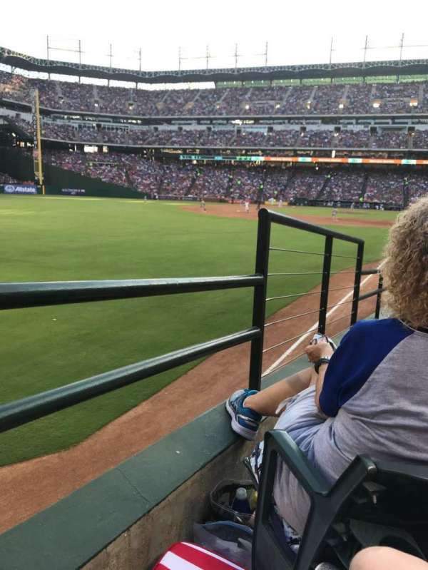 Globe Life Park in Arlington, section: 10, row: 14, seat: 8