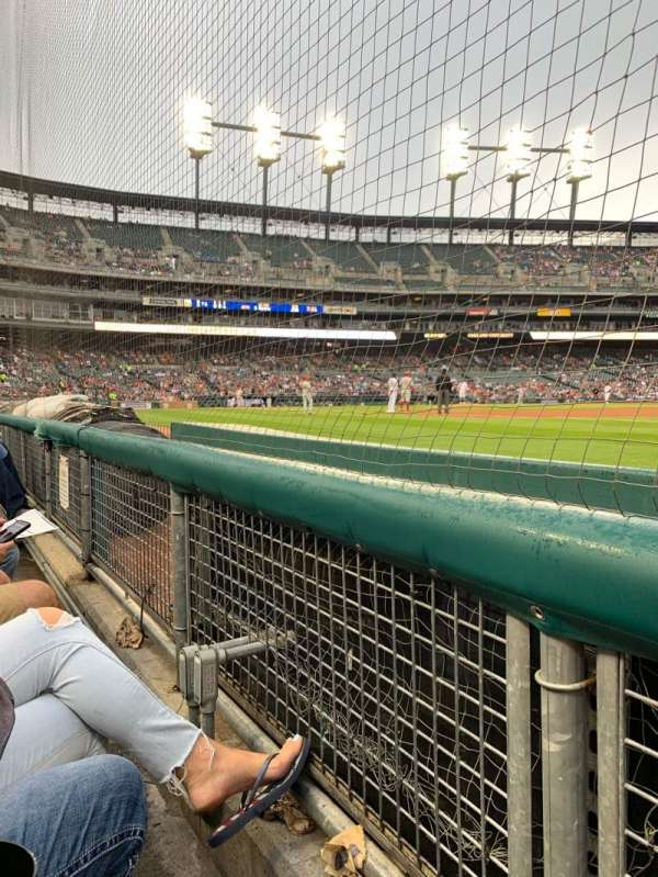 Comerica Park, section: 117, row: 1, seat: 17