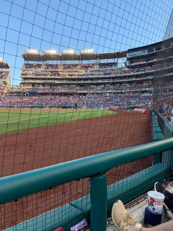 Nationals Park, section: 110, row: A, seat: 5