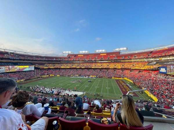 FedEx Field, section: 340, row: 12, seat: 5