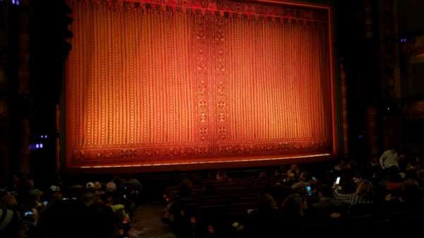 New Amsterdam Theatre, section: Orchestra L, row: P, seat: 1