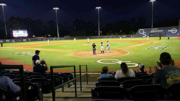 J. I. Clements Stadium, section: 104, row: I, seat: 1