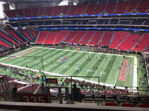 Mercedes-Benz Stadium, section: 335, row: 8, seat: 21